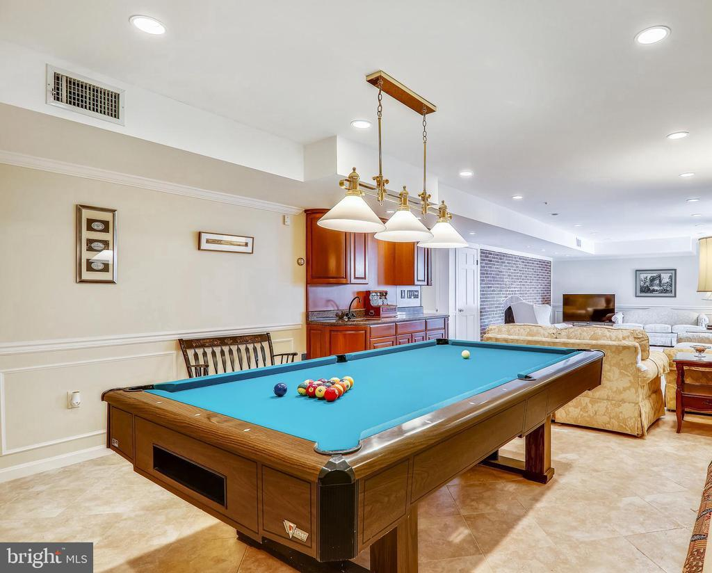 The perfect recreation room/family room - 3903 BELLE RIVE TER, ALEXANDRIA