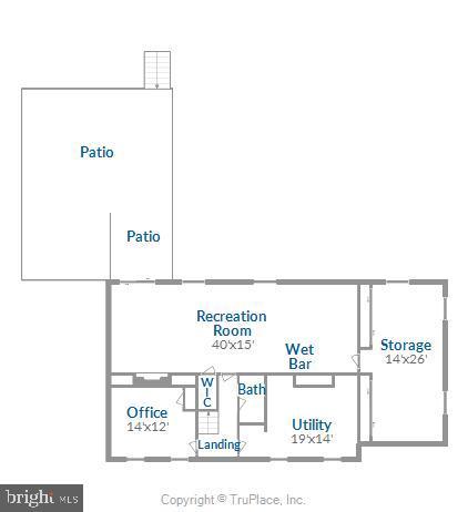 Floor plan, lower level - 3903 BELLE RIVE TER, ALEXANDRIA