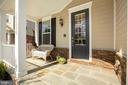 Sunny front porch - 10286 GREENSPIRE DR, OAKTON