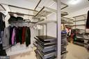 Custom walk in closet - 10286 GREENSPIRE DR, OAKTON