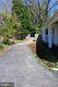 Driveway to rear of house and detached garage - 6802 GLENMONT ST, FALLS CHURCH