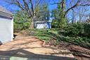 Private backyard and garage - 6802 GLENMONT ST, FALLS CHURCH