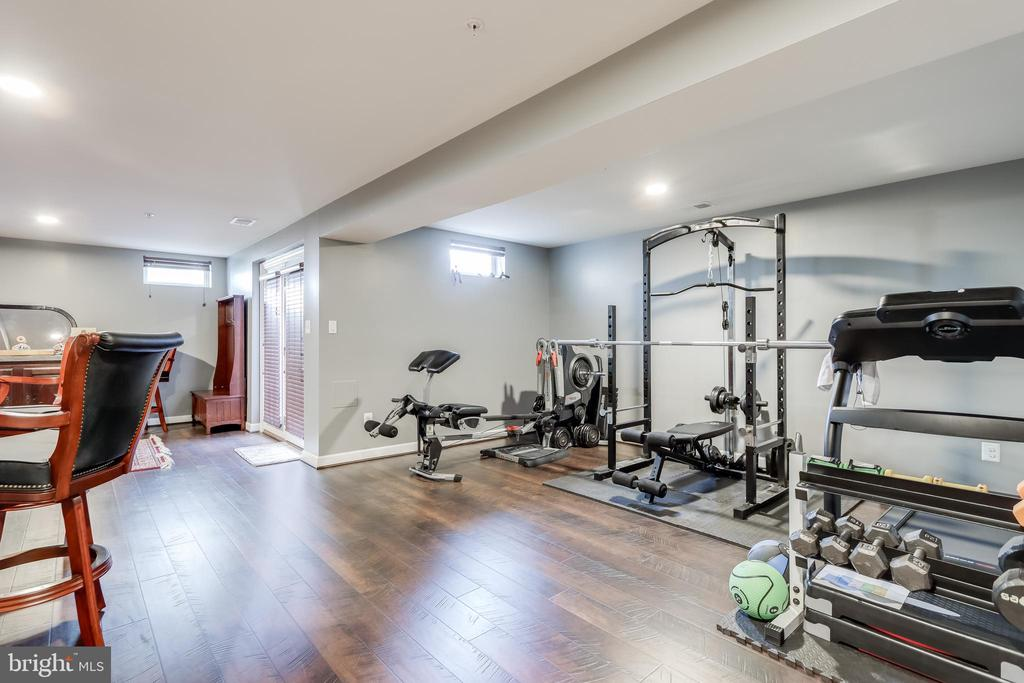 Basement area currently used as exercise room - 113 MAROON CT, FREDERICK