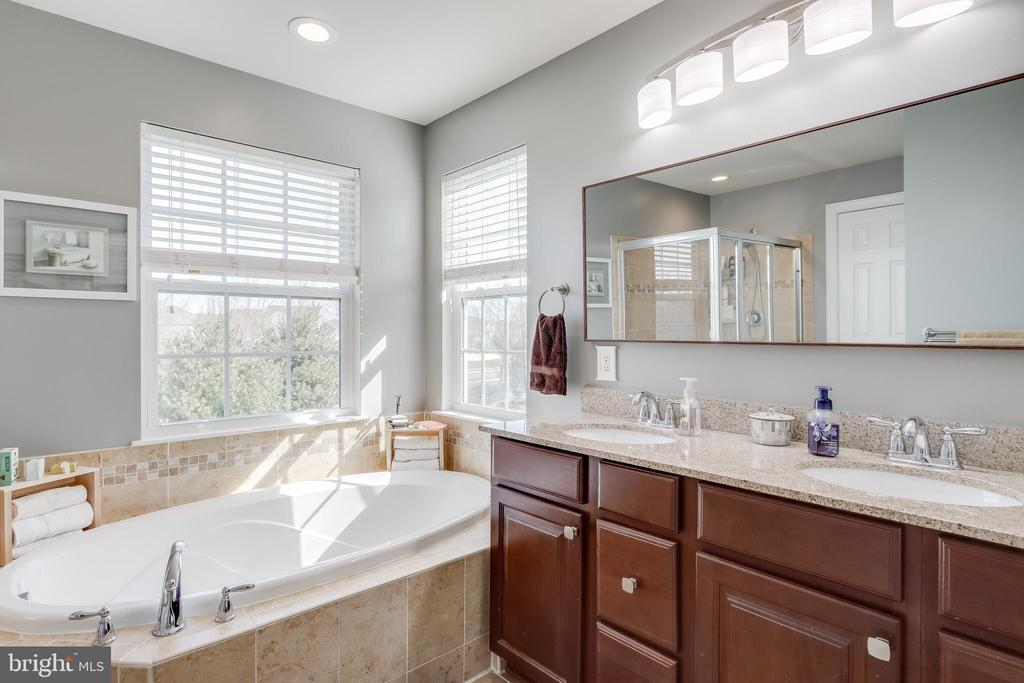 Primary bathroom with separate tub and shower - 113 MAROON CT, FREDERICK