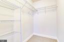 HUGE Walk-In Closet in Primary Bedroom - 820 N POLLARD ST #208, ARLINGTON