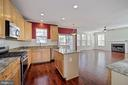 Kitchen from dining room - 1306 MONROE ST, HERNDON