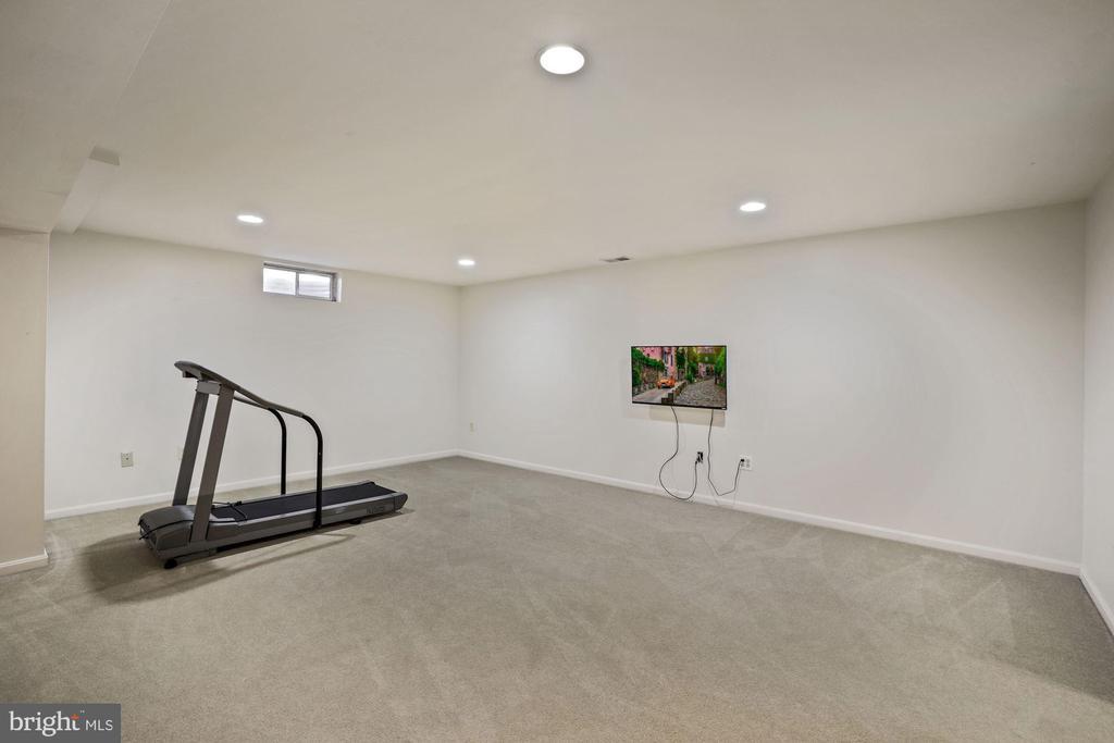Basement TV and treadmill convey - 1306 MONROE ST, HERNDON