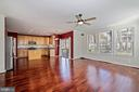 Family room to kitchen - 1306 MONROE ST, HERNDON