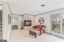 Owners' Suite Sitting Room w/ Gas Fireplace - 13219 LANTERN HOLLOW DR, NORTH POTOMAC