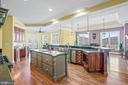 Center Island with Sink - 11170 GEORGES MILL RD, LOVETTSVILLE