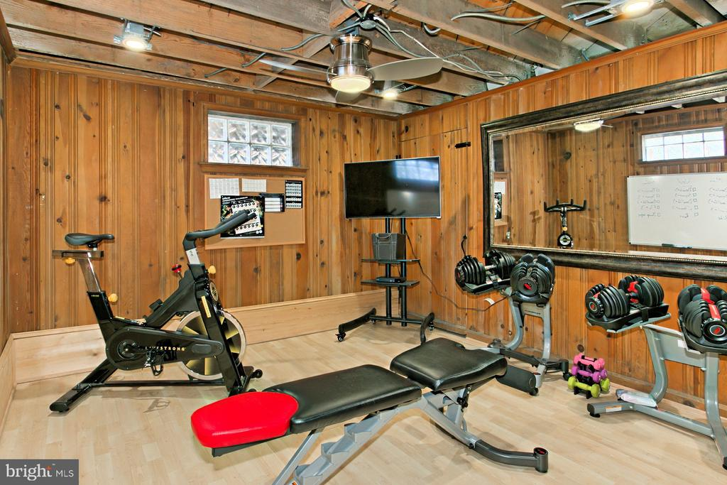 Fitness Room in Basement - 1201 SEATON LN, FALLS CHURCH