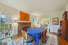 Formal dining room with fireplace - 3249 38TH ST NW, WASHINGTON
