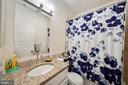 Renovated full hall bath - 3249 38TH ST NW, WASHINGTON