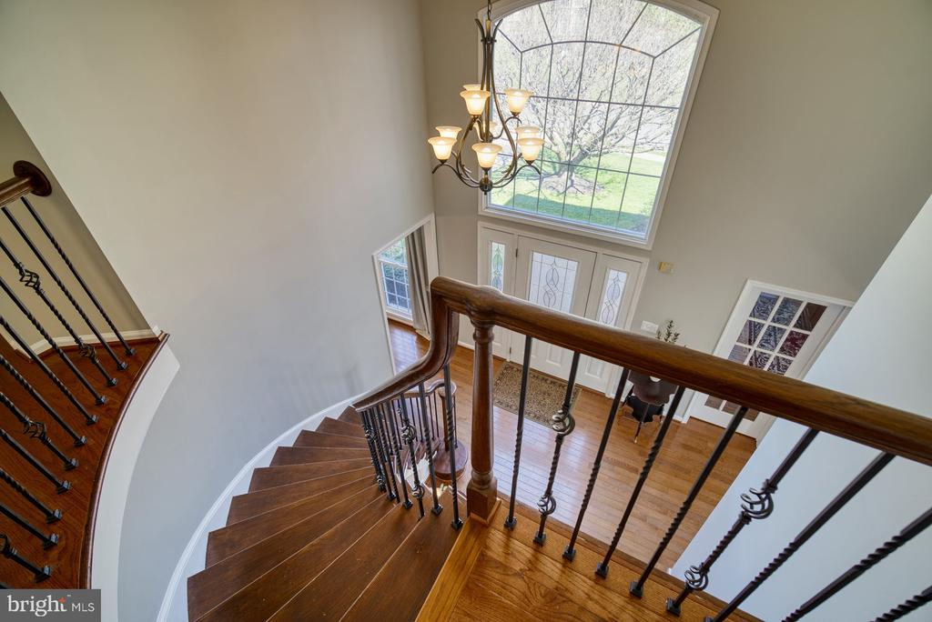 Welcoming 2-Story Foyer w/ Grand Curved Staircase - 5523 ASHLEIGH RD, FAIRFAX