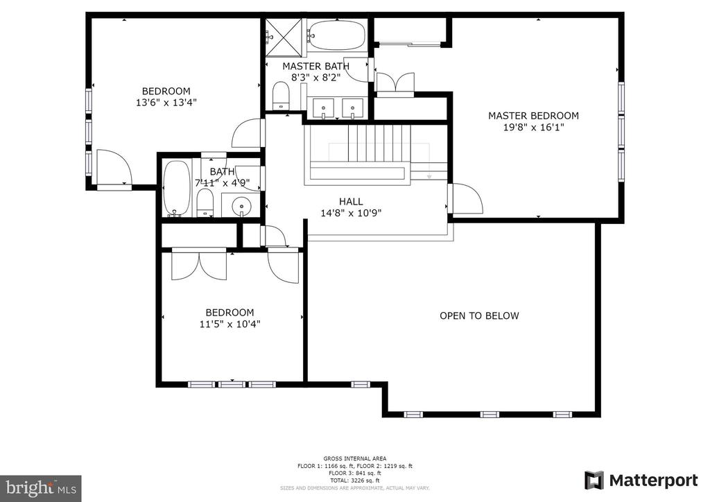 Upper Level Floorplan - 10525 ELMENDEN CT, OAKTON