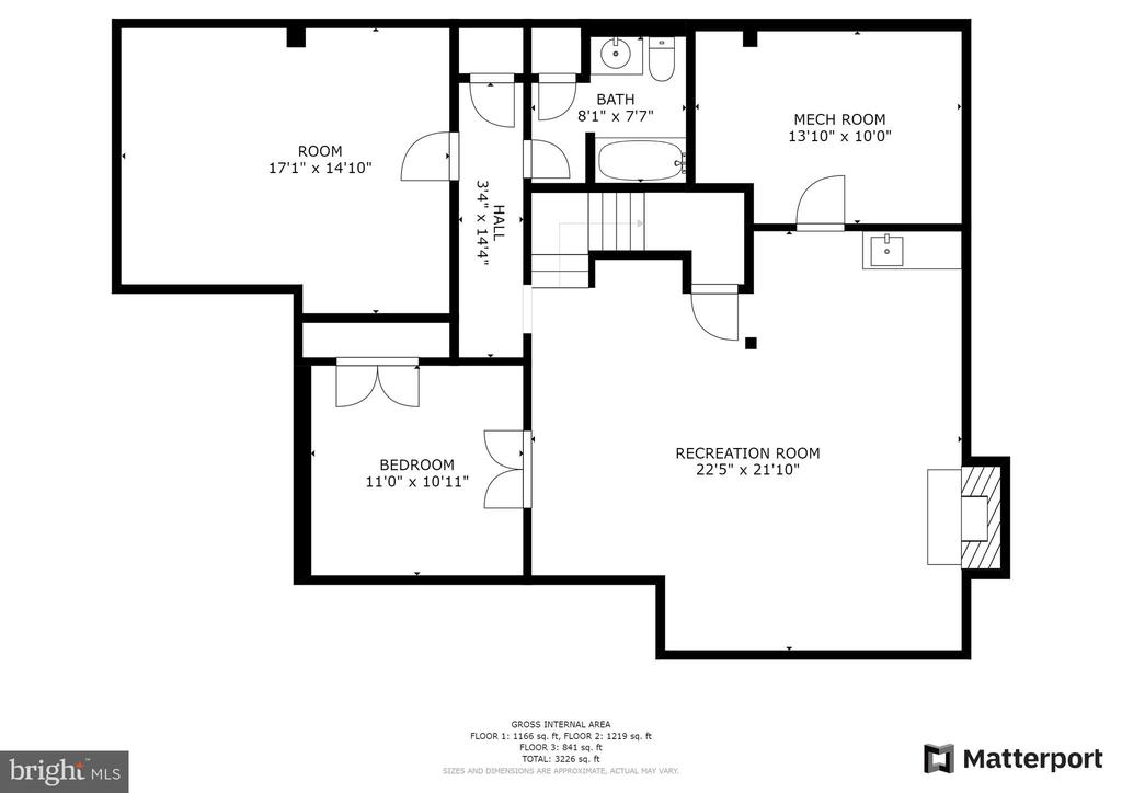 Lower Level Floorplan - 10525 ELMENDEN CT, OAKTON