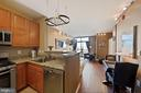 Kitchen overlooking living space - 1111 25TH ST NW #918, WASHINGTON
