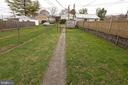 Rear with Fenced Yard Area - 818 N MARKET ST, FREDERICK