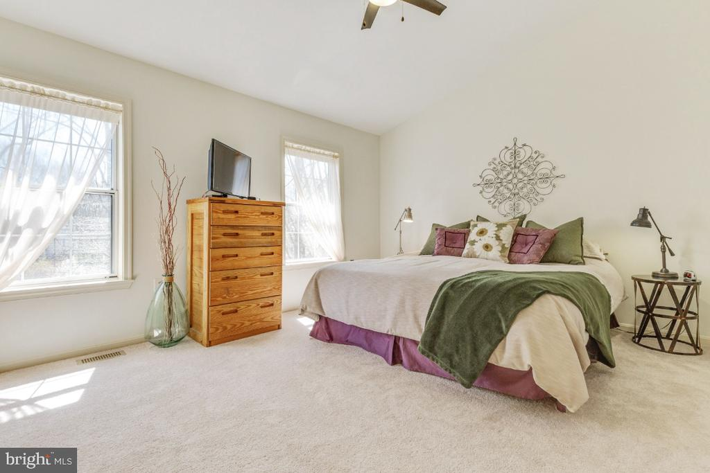 Huge primary bedroom with vaulted ceilings - 5731 MASON BLUFF DR, BURKE