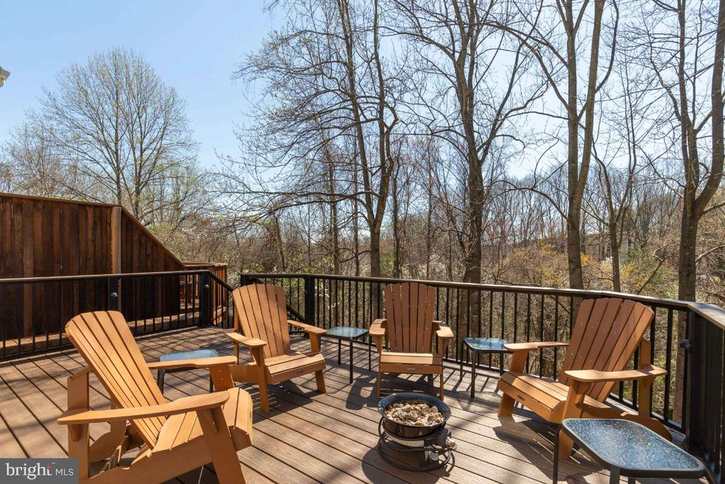 Composite deck and aluminum railings - 5731 MASON BLUFF DR, BURKE