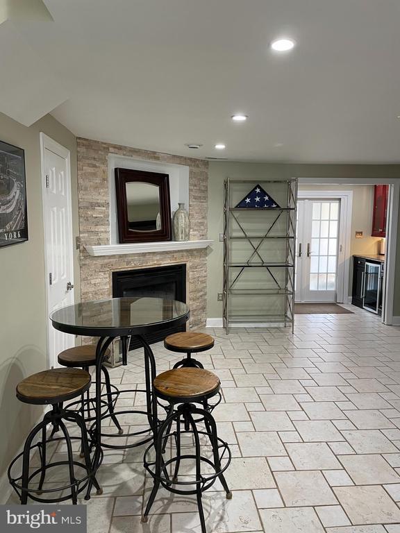 Rec room w/ gas fireplace - 2305 KENOSHA PL, SILVER SPRING