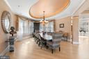 Formal dining area - 658 LIVE OAK DR, MCLEAN