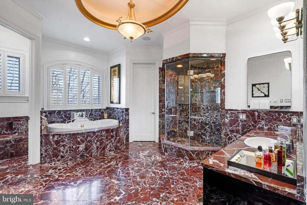 Primary suite full bath with spa tub - 658 LIVE OAK DR, MCLEAN