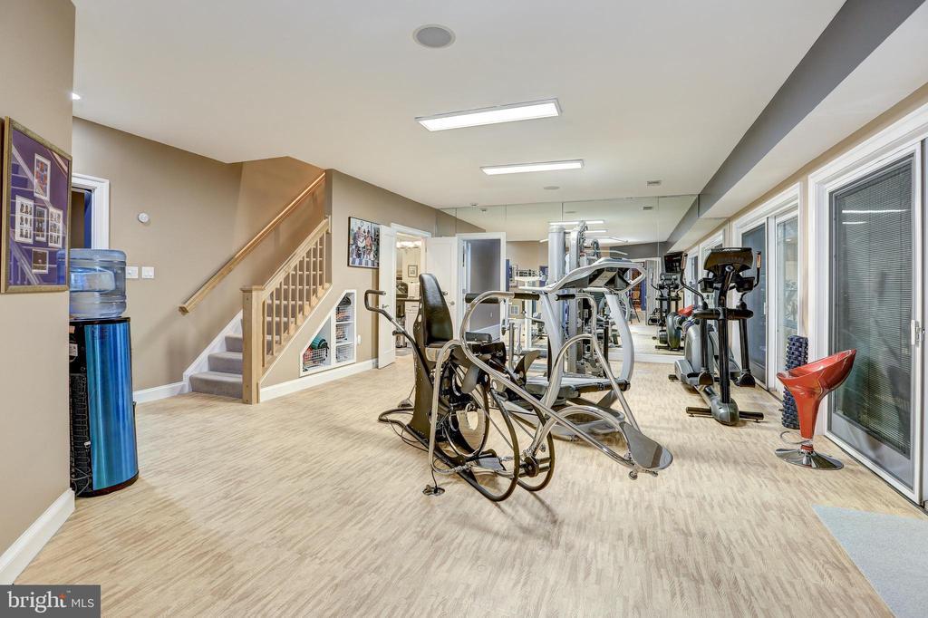Lower level exercise room - 658 LIVE OAK DR, MCLEAN