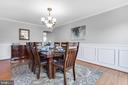 Dining Room - 9696 ANJOU CT, MANASSAS