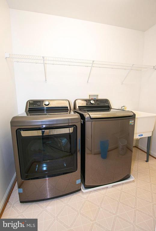 Laundry Room on the bedroom level - 11413 RAMSBURG CT, NORTH POTOMAC