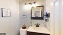 Clean and gleaming powder room - 3014 MEDITERRANEAN DR, STAFFORD