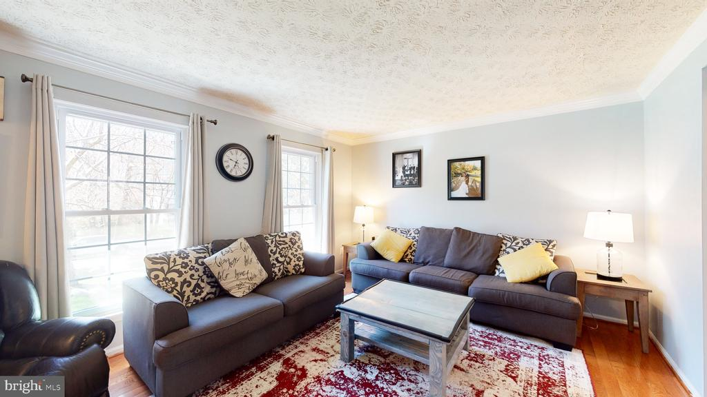 Spacious and light-filled living room - 3014 MEDITERRANEAN DR, STAFFORD
