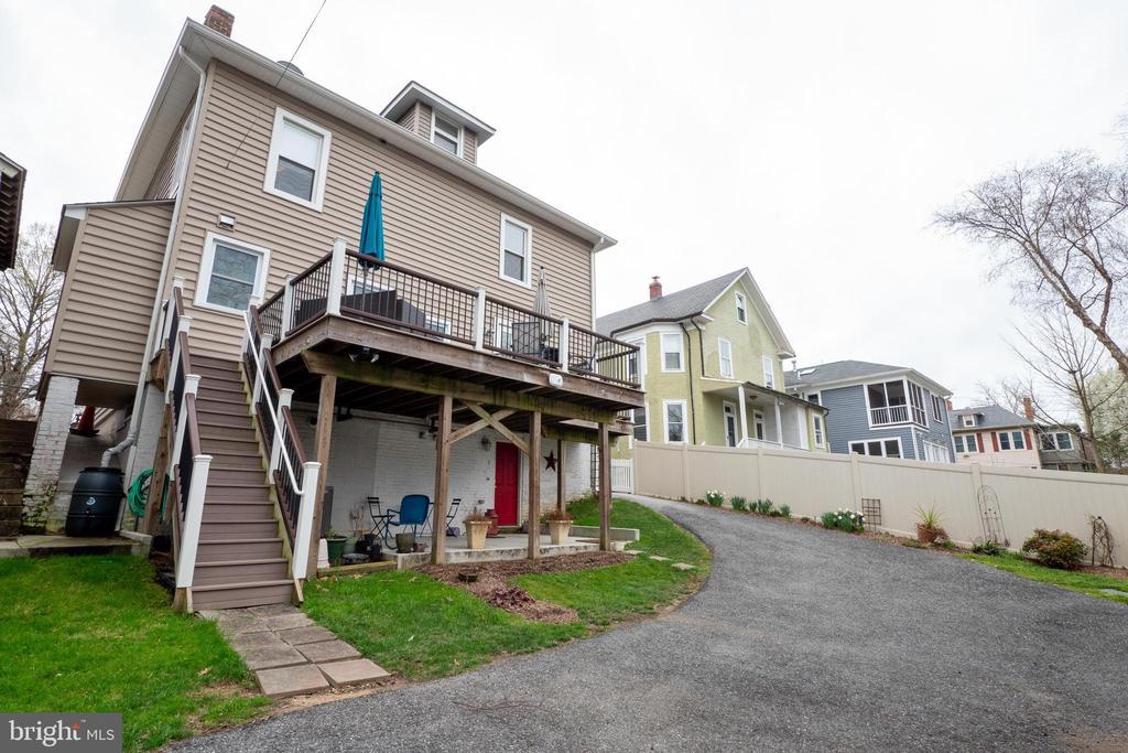 Rear deck and patio - 1244 MONROE ST NE, WASHINGTON