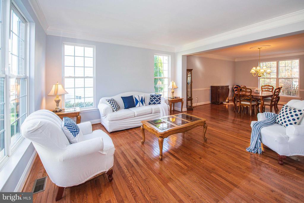 Sunny Living Room - 11413 RAMSBURG CT, NORTH POTOMAC