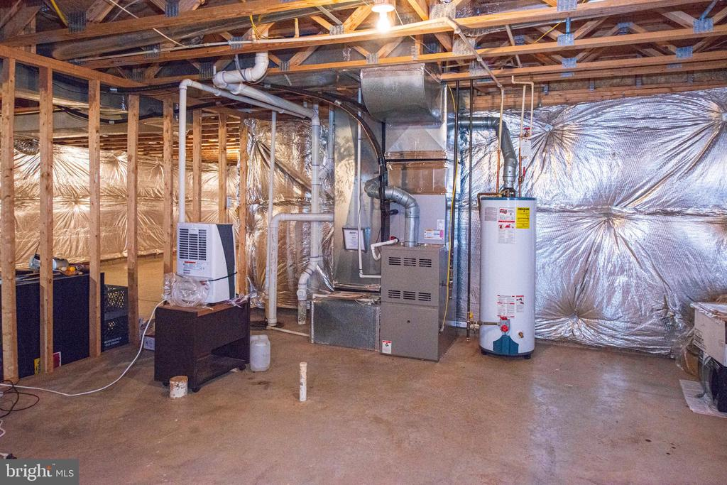 Basement - utility area - 11413 RAMSBURG CT, NORTH POTOMAC