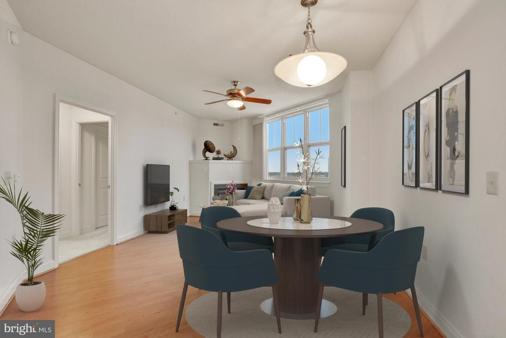 Staged to show how versatile the space is - 11760 SUNRISE VALLEY DR #1004, RESTON