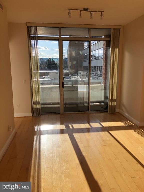 Bright balcony off living room - 1020 N HIGHLAND ST #223, ARLINGTON