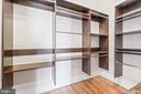 Walk-in Closet with Custom Built-Ins - 11170 GEORGES MILL RD, LOVETTSVILLE
