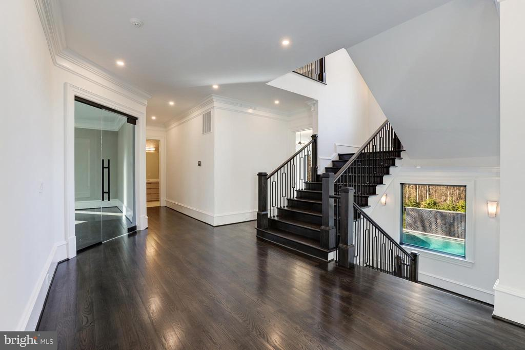 Main Staircase - Glass Door to Office - 1332 MCCAY LN, MCLEAN