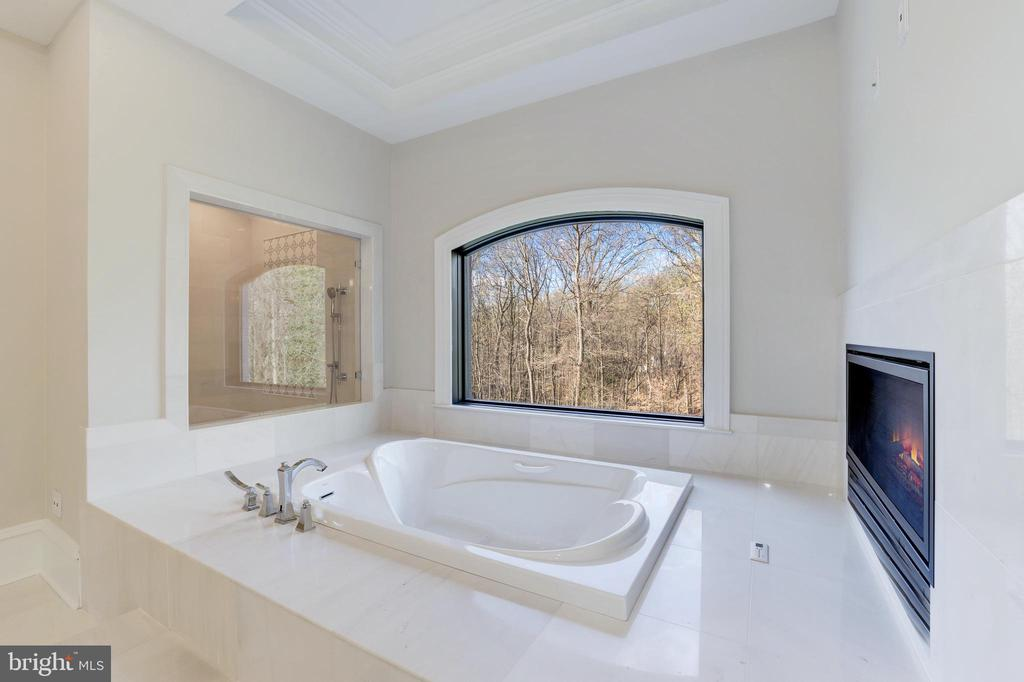 Spa Tub with Fireplace and Picture Window - 1332 MCCAY LN, MCLEAN