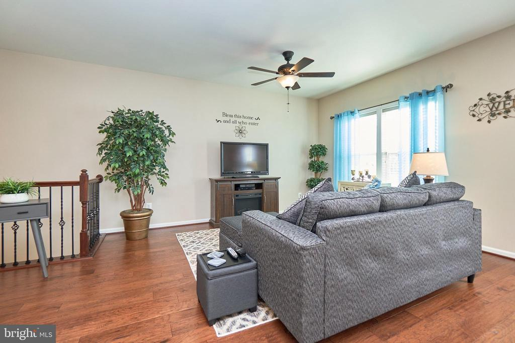 Family Room with Lighted Ceiling Fan - 7006 DARBEY KNOLL DR, GAINESVILLE