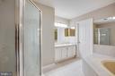 Master Bath NEW shower tile NEW toilet - 206 CROSSING RD, FREDERICKSBURG