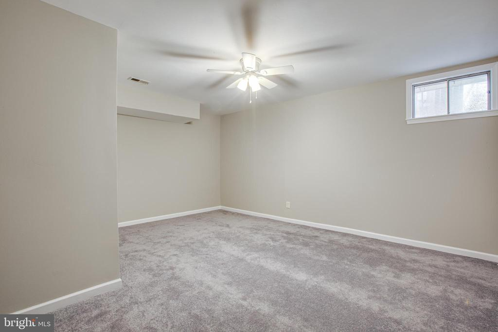 Large room in lower level NEW carpet - 206 CROSSING RD, FREDERICKSBURG