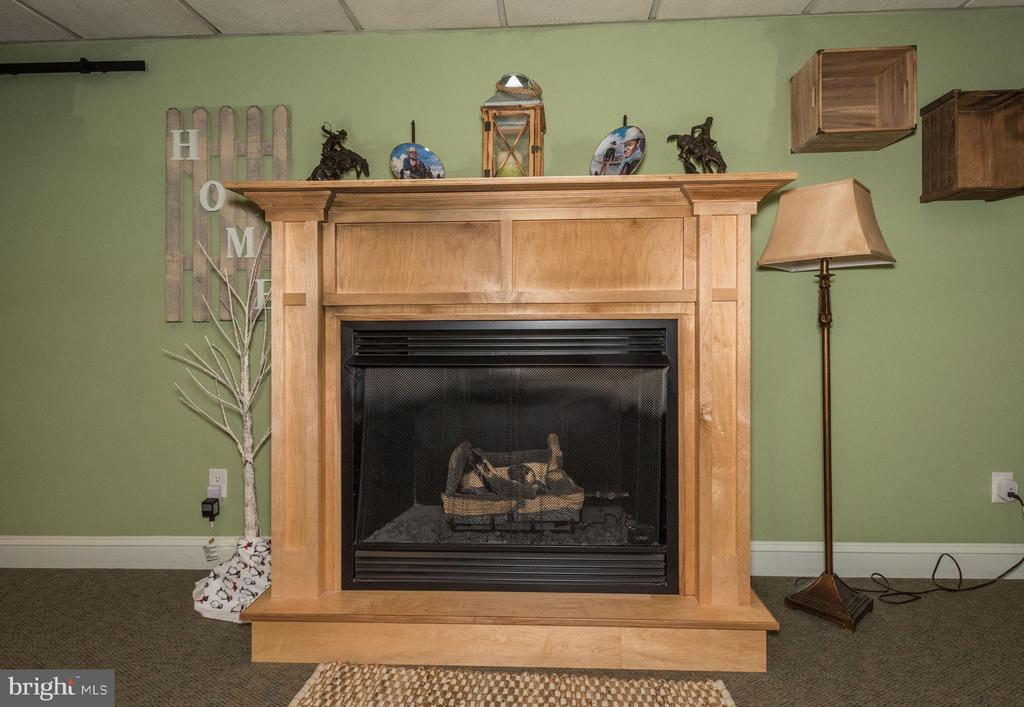 Basement fireplace - 7235 WOODVILLE RD, MOUNT AIRY