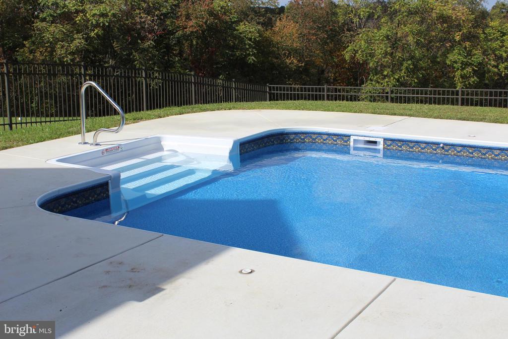 Pool uncovered - 7235 WOODVILLE RD, MOUNT AIRY