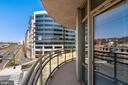 Extra large wrap around balcony - 3600 S GLEBE RD #310W, ARLINGTON