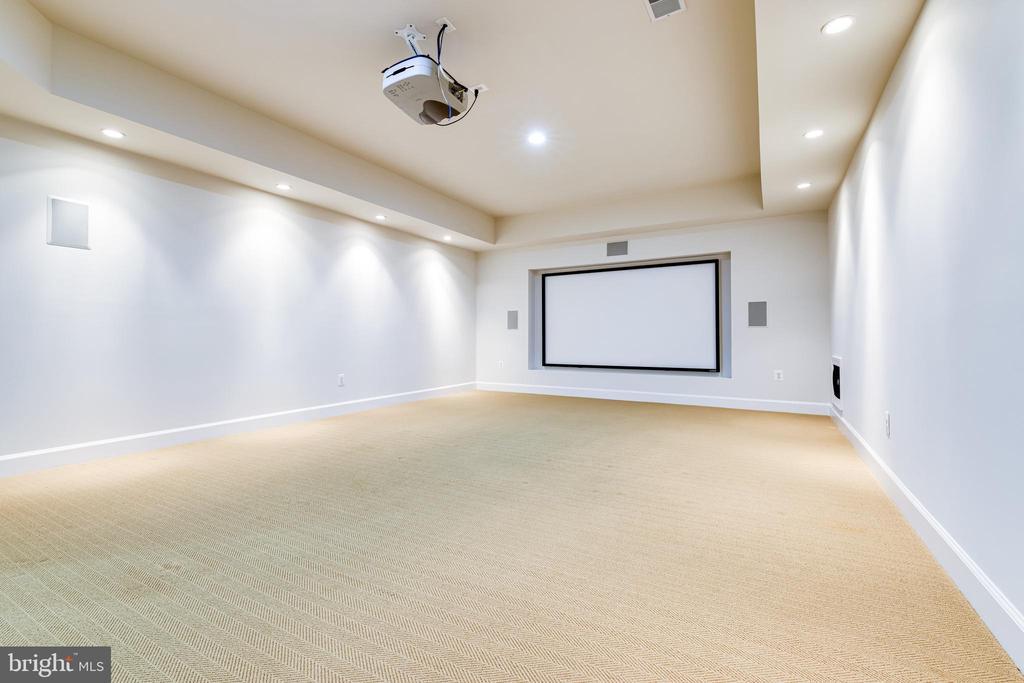Media Room - 1552 SHELFORD CT, VIENNA
