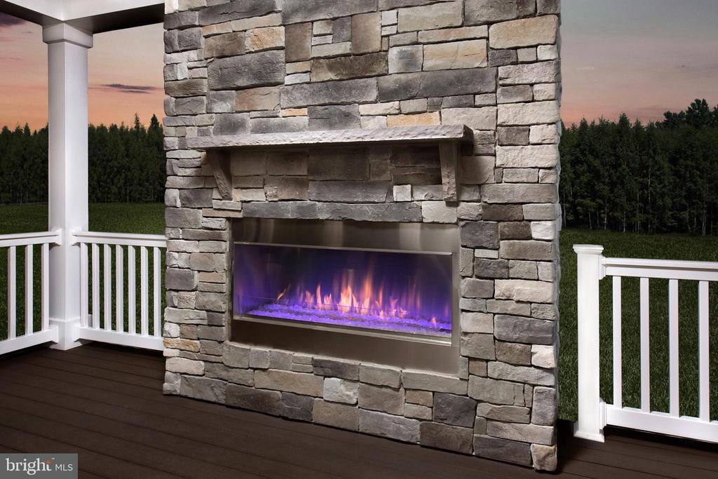 Covered Porch Fireplace Option - 0 CROSS CREEK DR #2, COLUMBIA