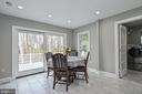 Breakfast room has walkout to deck - 9326 MAINSAIL DR, BURKE