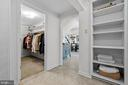Walk -IN Closet and Built in - 7504 PICNIC WOODS RD, MIDDLETOWN